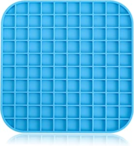 i.VALUX Slow Licking Pad for Dog Cat,Slow Treat Dispensing Mat,Slow Feeder Dog Bowls Puzzle Food Stop Bloat Lick Pad for Peanut Butter,Treats, Yogurt,Reduce Pet Anxiety or Boredom