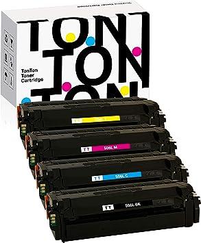 CS Compatible Toner Cartridge Replacement for Samsung CLP 680 CLT-C506L Cyan CLT-Y506L Yellow CLT-M506L Magenta CLP-680 680ND CLX-6260 6260FW 6260FD 6260FR 6260ND 3 Color Set