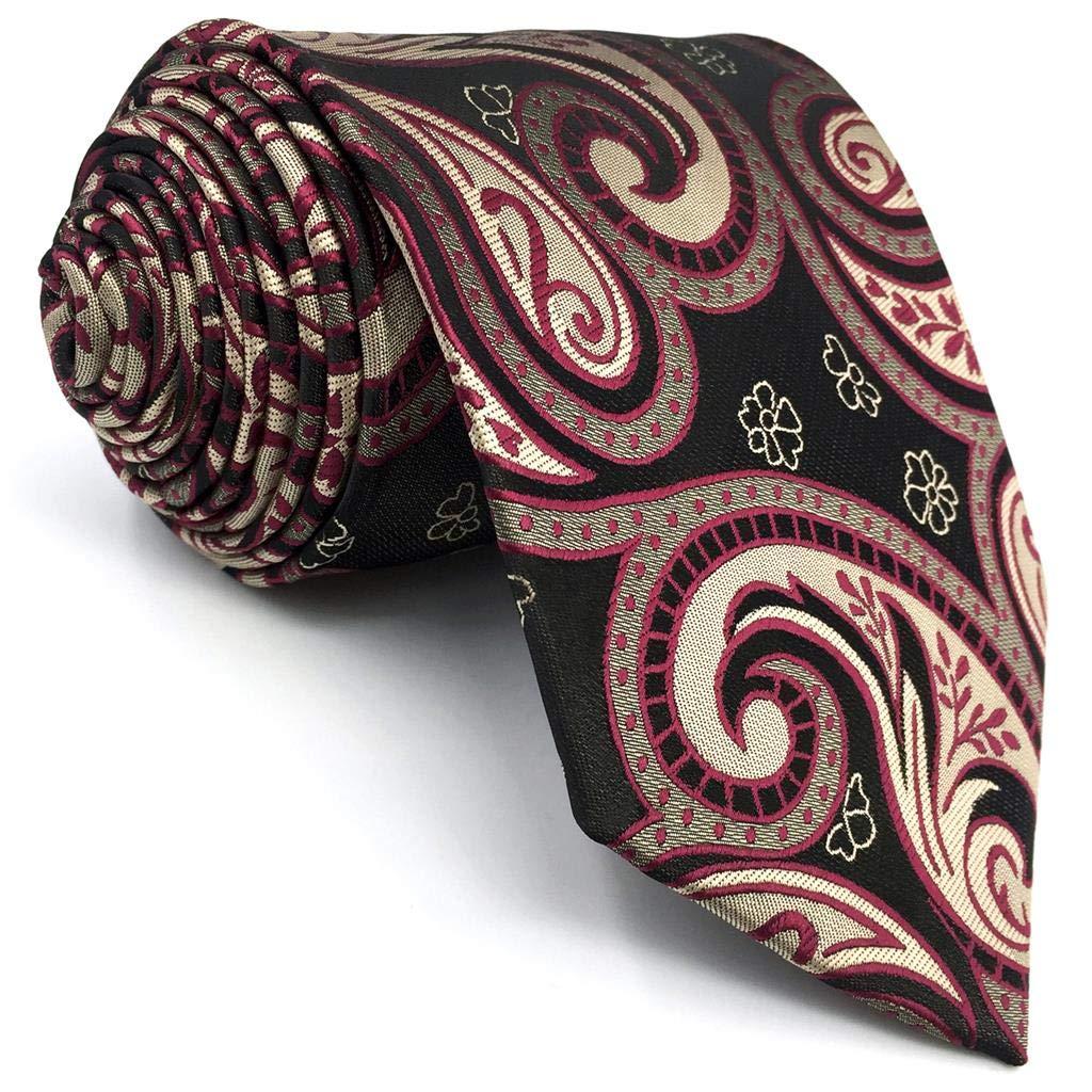shlax&wing La Moda Hombre Seda Corbatas Para Gris Rojo Cachemir ...