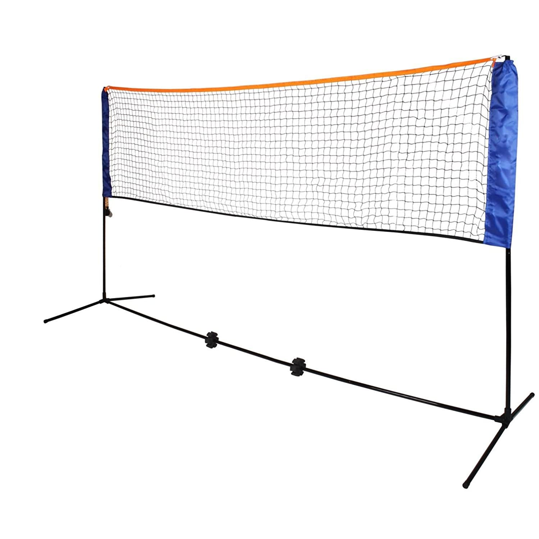 Oypla Medium 4m Adjustable Foldable Badminton Tennis Volleyball Net 3130OYP
