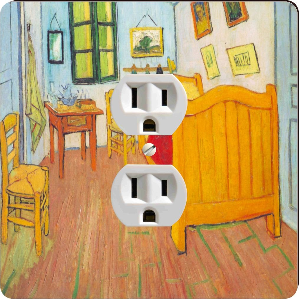 Rikki Knight 1466 Outlet Van Gogh Art The Bedroom In Arles Design Outlet Plate