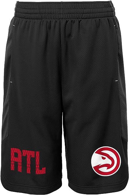 5-6 NBA Kids /& Youth Boys Jump Ball Short Atlanta Hawks-Charcoal-M
