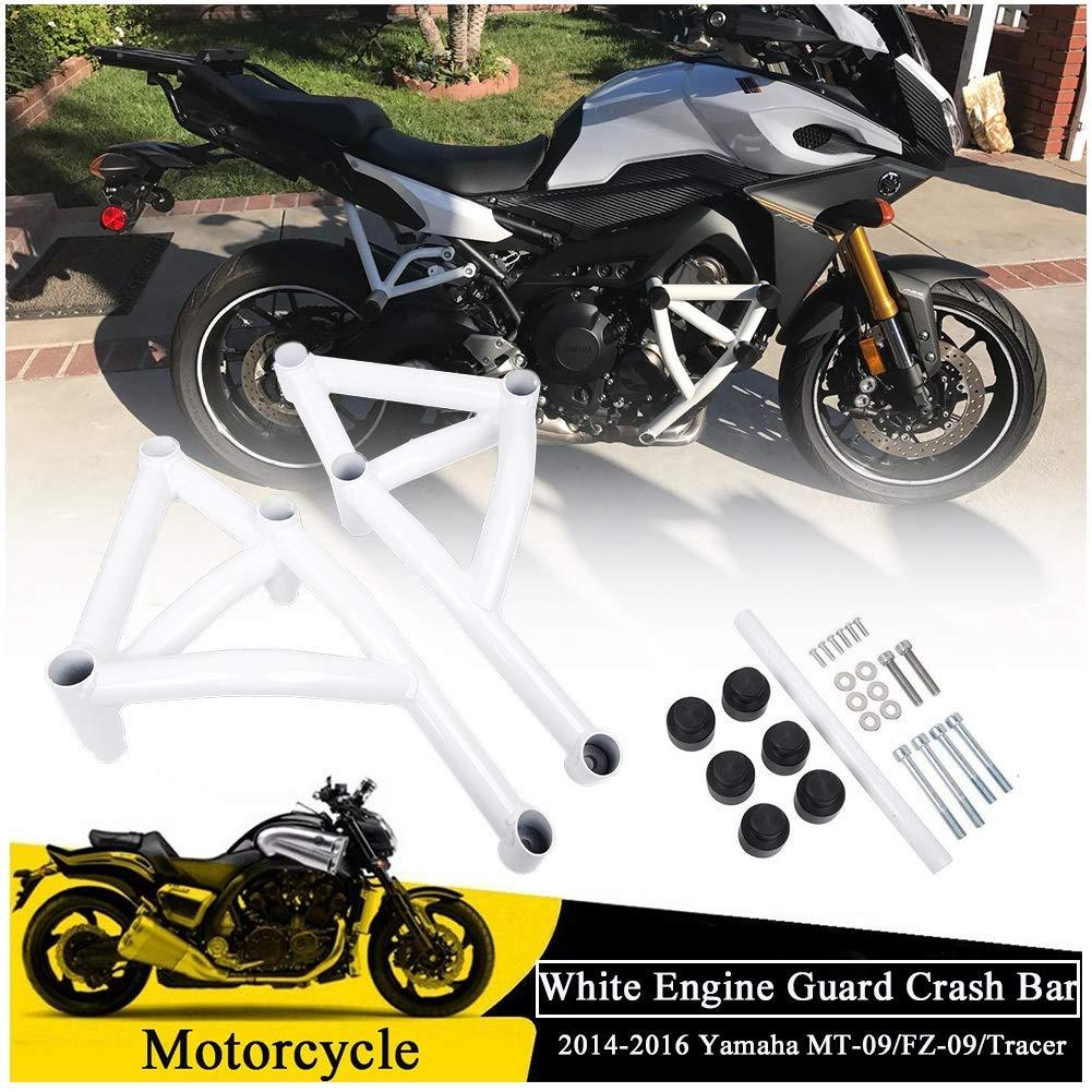 Fatexpress Crash Bar Bars For 2014 2015 2016 For Yamaha Mt Fz 09 Tracer Xsr900 Motorcycle White Steel Stunt Slider Cage Engine Guard Highway Crashbar
