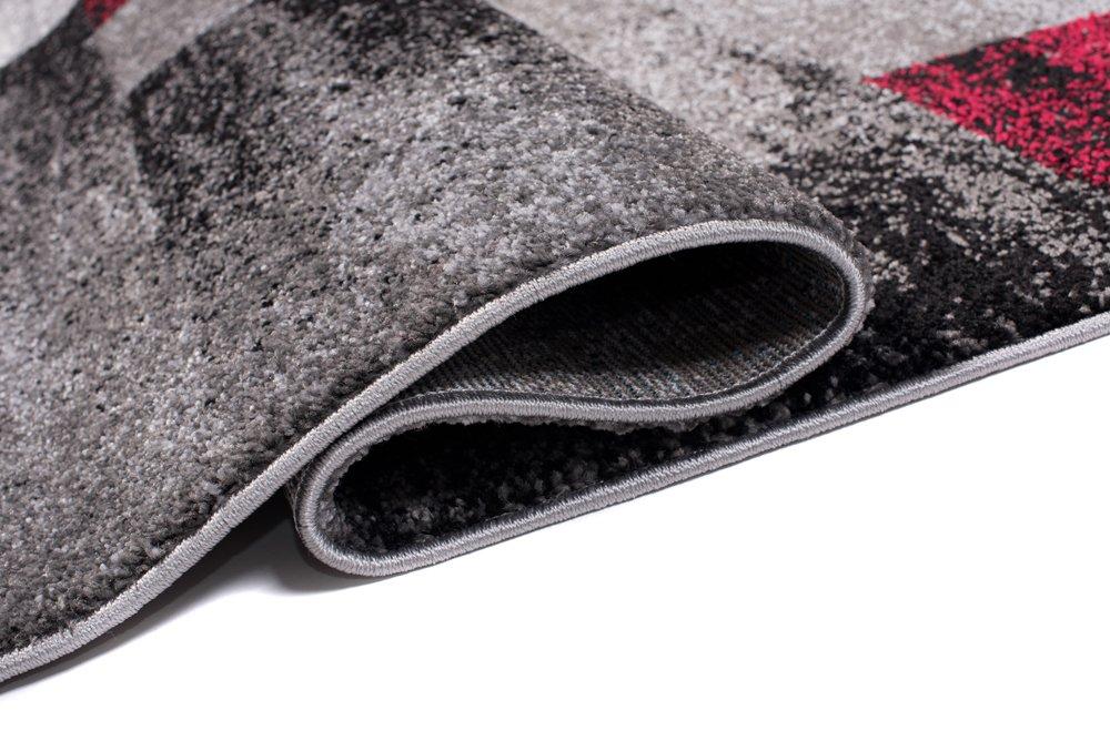 Tapiso JAWA Teppich Kurzflor Meliert Meliert Meliert Teppiche Grau Schwarz Rot Bunt Mehrfarbig mit Abstrakt Karo Diamant Viereck Muster Perfekt Wohnzimmer Gästezimmer ÖKOTEX 160 x 220 cm B07BK87YSW Teppiche a2ed7f