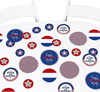 product image for Big Dot of Happiness 4th of July - Independence Day Party Giant Circle Confetti - Party Decorations - Large Confetti 27 Count
