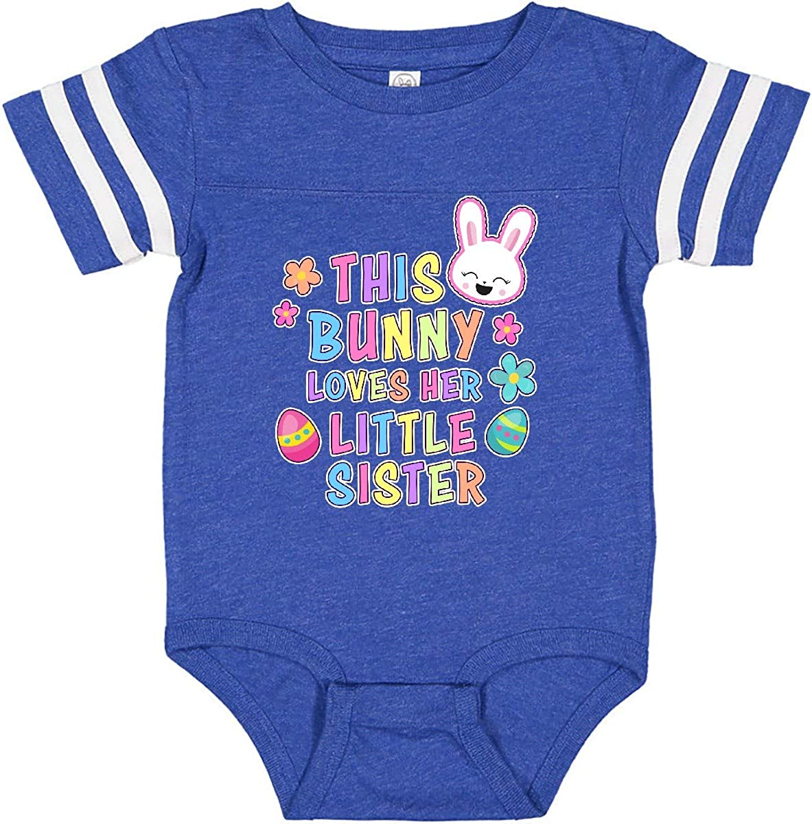 inktastic This Bunny Loves Her Little Sister with Bunny Face and Infant Creeper