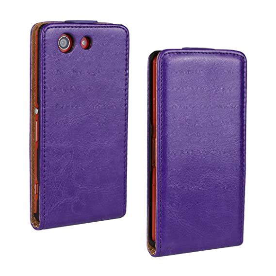 Amazon.com: For Sony Xperia Z3 Compact Flip Case Cover PU ...
