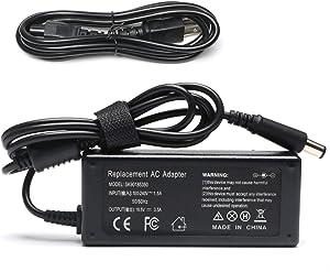 65W AC Adapter Fit for Hp Pavilion G4 G6 G7 M6 DM4 DV4 DV5 DV6 DV7 G60 G61 G72, EliteBook 2540p 2560p 2570p 2730p 2740p 2760p 6930p 8440p [18.5V 3.5A]