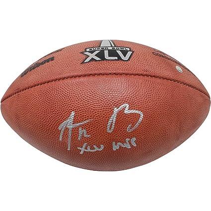 a05a2a749 Aaron Rodgers Signed SB XLV Logo Football w XLV MVP Insc at Amazon s ...