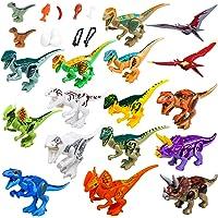 25-Piece Maykid Dinosaur Playset with Dinos Accessories Building Blocks Party Supplies