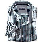 d9bab5cbb41d Casamoda Chemise Manches Longues à Carreaux Bleu-Turquoise-Blanc XXL