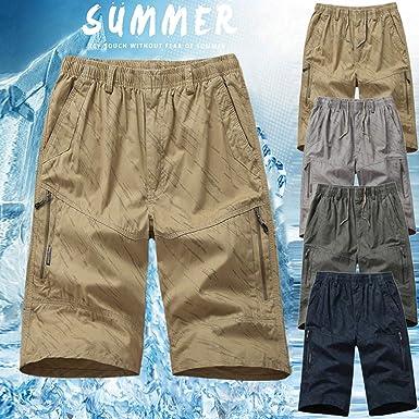 Mosstars 🎀 pantalón Corto Deporte Hombre con Bolsillos Pantalones ...