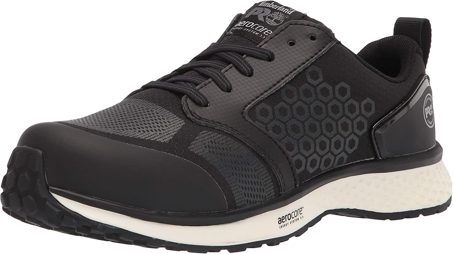 Timberland PRO Women's Reaxion Athletic Composite Toe Industrial Boot, Black/White, 7