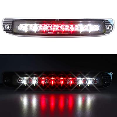 Sanzitop LED 3rd Brake Light High Mount Brake Light Rear Roof Tail Light Replacement Fit for 1997-2007 Dodge Dakota 5056203AH 55056203AC (Chrome Housing Clear Lens): Automotive
