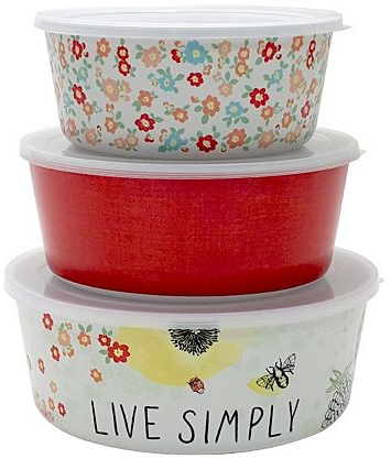 Celebrate Spring Together Floral 3-pc. Melamine Nesting Bowl Set