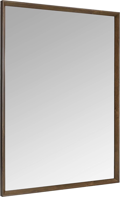 Basics Miroir mural rectangulaire Nickel 76,2 x 101,6 cm Encadrement classique