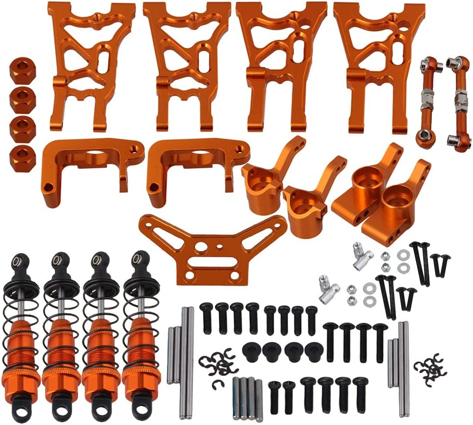 B072PWJK31 Mxfans Orange Aluminum Alloy Upgrade Parts Servo Linkages Suspension Arm Shock Absorber Hub Carrier for HPI WR8 Flux RC1:10 Rally Car Set of 21 71v-ldy3BxL.SL1000_