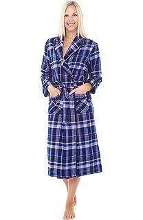 b613bf52ed PajamaGram Ladies Bathrobes Soft Fleece - Women s Plaid Robes