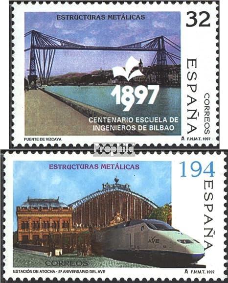 Prophila Collection España Michel.-No..: 3320-3321 (Completa.edición.) 1997 Metallbauwerke (Sellos para los coleccionistas) vehículos sobre raíles / funicular: Amazon.es: Juguetes y juegos