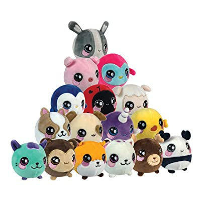 Squeezamals Slow Rising Soft Toy, Squishie, Squeezy and Scented Plush Animals (Variety of Styles - Styles Picked at Random): Toys & Games