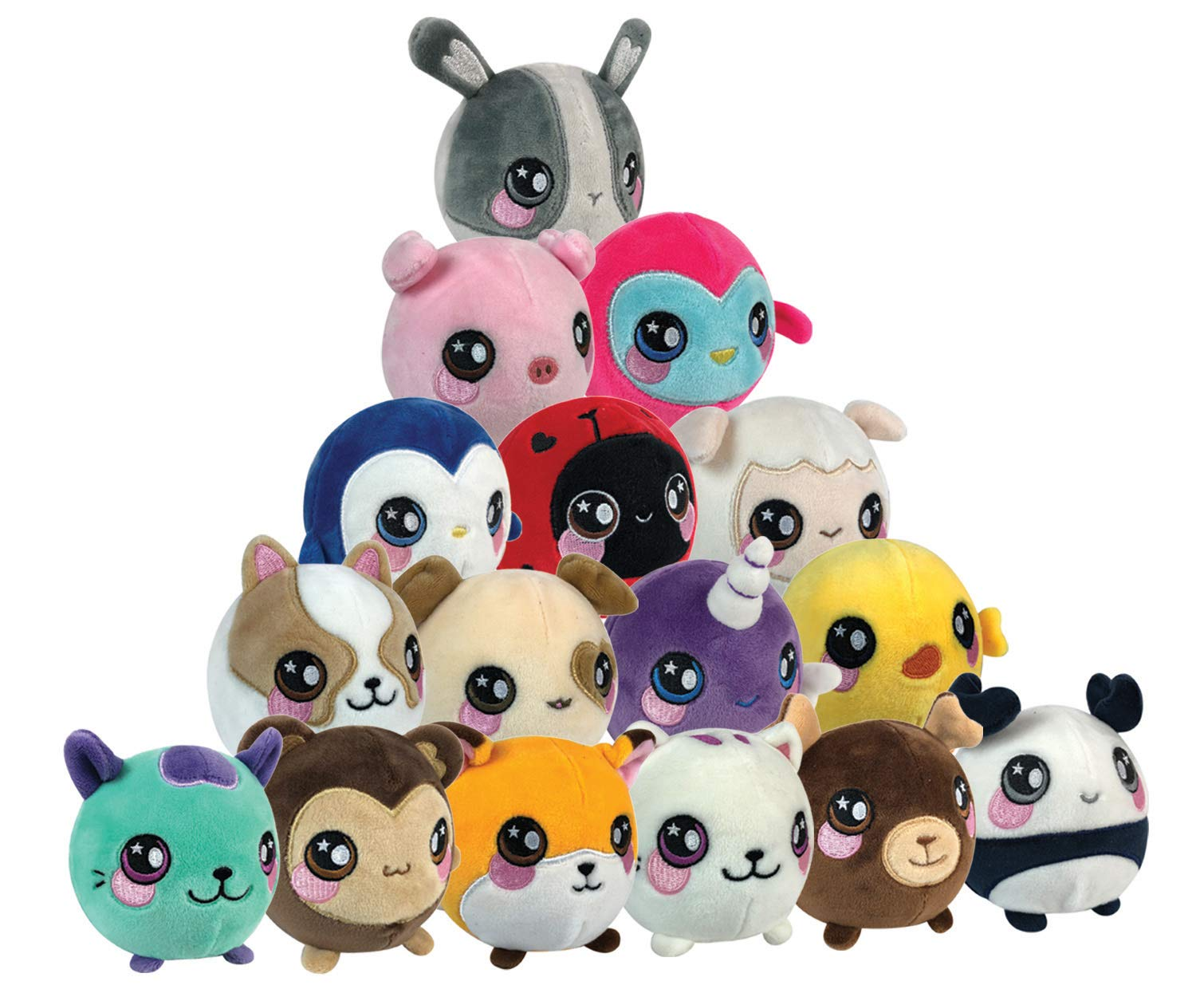 Squeezamals Slow Rising Soft Toy, Squishie, Squeezy and Scented Plush Animals (Variety of Styles - Styles Picked at Random)