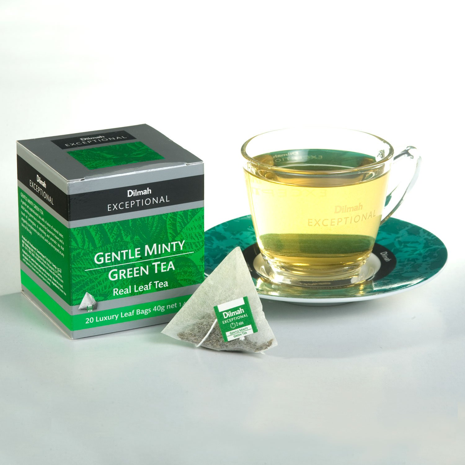 Dilmah exceptional gentle minty green tea box luxury leaf string and dilmah exceptional gentle minty green tea box luxury leaf string and tag tea bags 40 g pack of 6 20 bags each amazon grocery izmirmasajfo Images