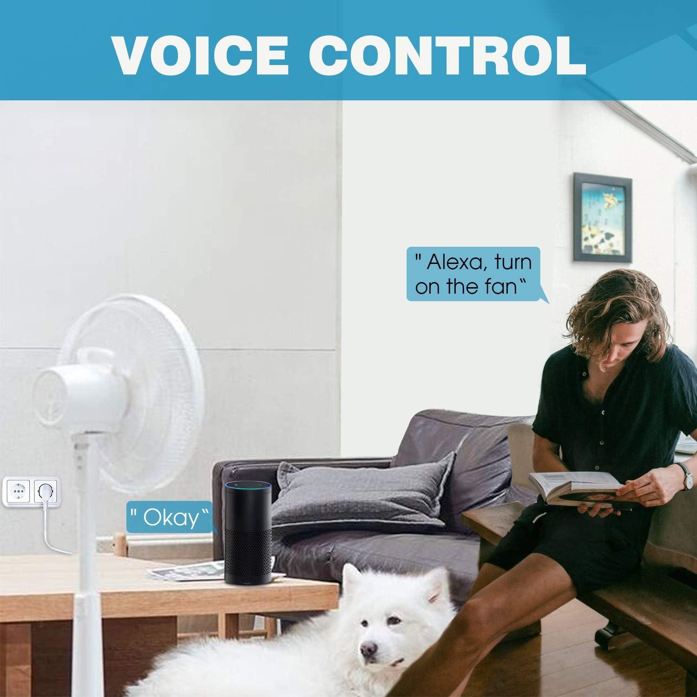 DFGOTOP Prise Intelligente Connect/ée Wifi Compatible avec Alexa Google Home Puissante Mini Smart Prise de Courant T/él/écommand/ée par APP Gratuite ou Votre Voix 16A 3000W