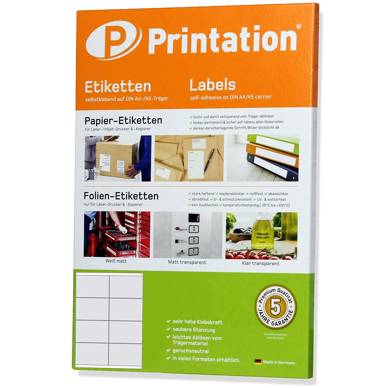 1000 ETIKETTEN 105 x 57 mm 100 Blatt weiß Laser Inkjet Kopierer permanent