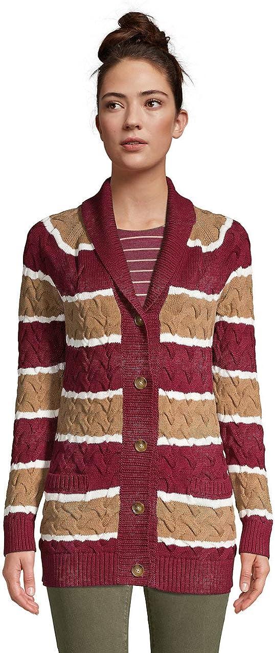 Donna Karan Women/'s Open Front Shawl Collar Knit Cardigan Sweater