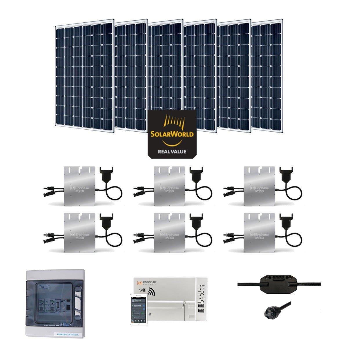 Solar Kit 1800 W Autoconsommation Enphase Plug Play Amazonco Microinverter Panel System Design Electronic Products Lighting