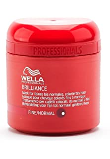 wella masque brilliance ch fins a normaux 150 ml - Shampoing Wella Cheveux Colors