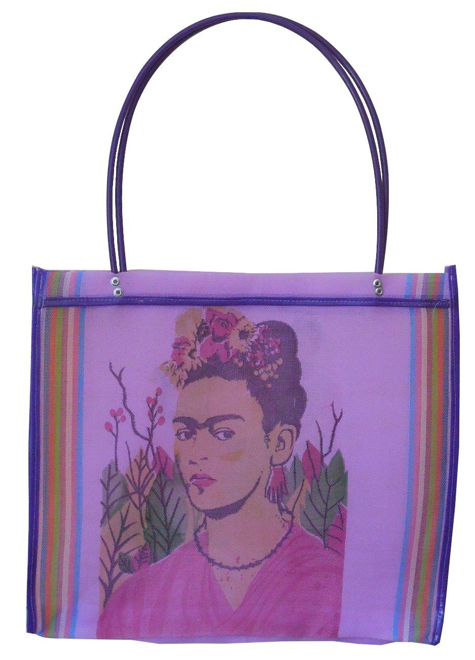 Bolsa de la compra Frida Kahlo Folk Art de botellas de plástico recicladas: Amazon.es: Hogar