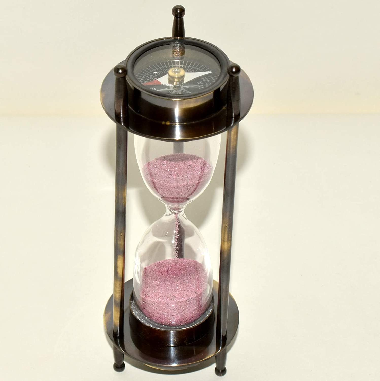 Maritime真鍮航海コンパス砂時計アンティーク砂タイマー~デスクアクセサリーギフト。。。dew343   B07CZJQWSQ