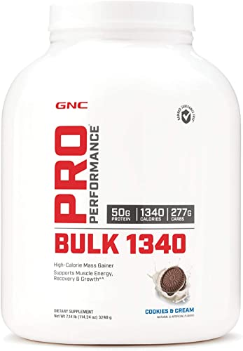 GNC Pro Performance Bulk 1340 – Cookies and Cream, 9 Servings, Supports Muscle Energy, Recovery and Growth
