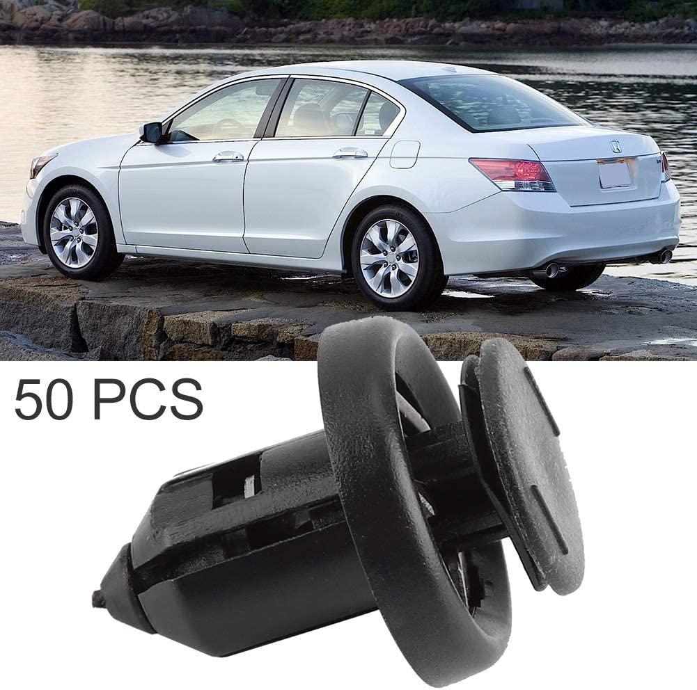 Splashguard /& Engine Undertray Trim Clips for Bumper 100pcs Plastic Black Duokon Car Wheel Arch Lining