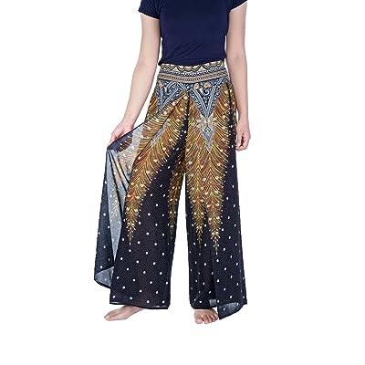 Lannaclothesdesign Womens Wide Leg Trousers Palazzo Pants S M L XL Sizes at Women's Clothing store