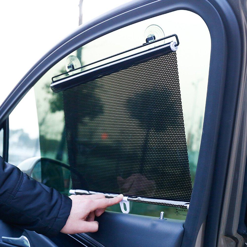 50 * 125cm LIOOBO Universal Retractable Car Vehicle Cortina Ventana Roller Sun Shade Blind Protector