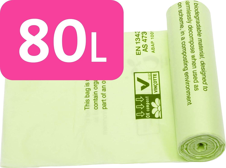Alina - Cubo de Basura compostable, 80 L, para residuos de jardín ...
