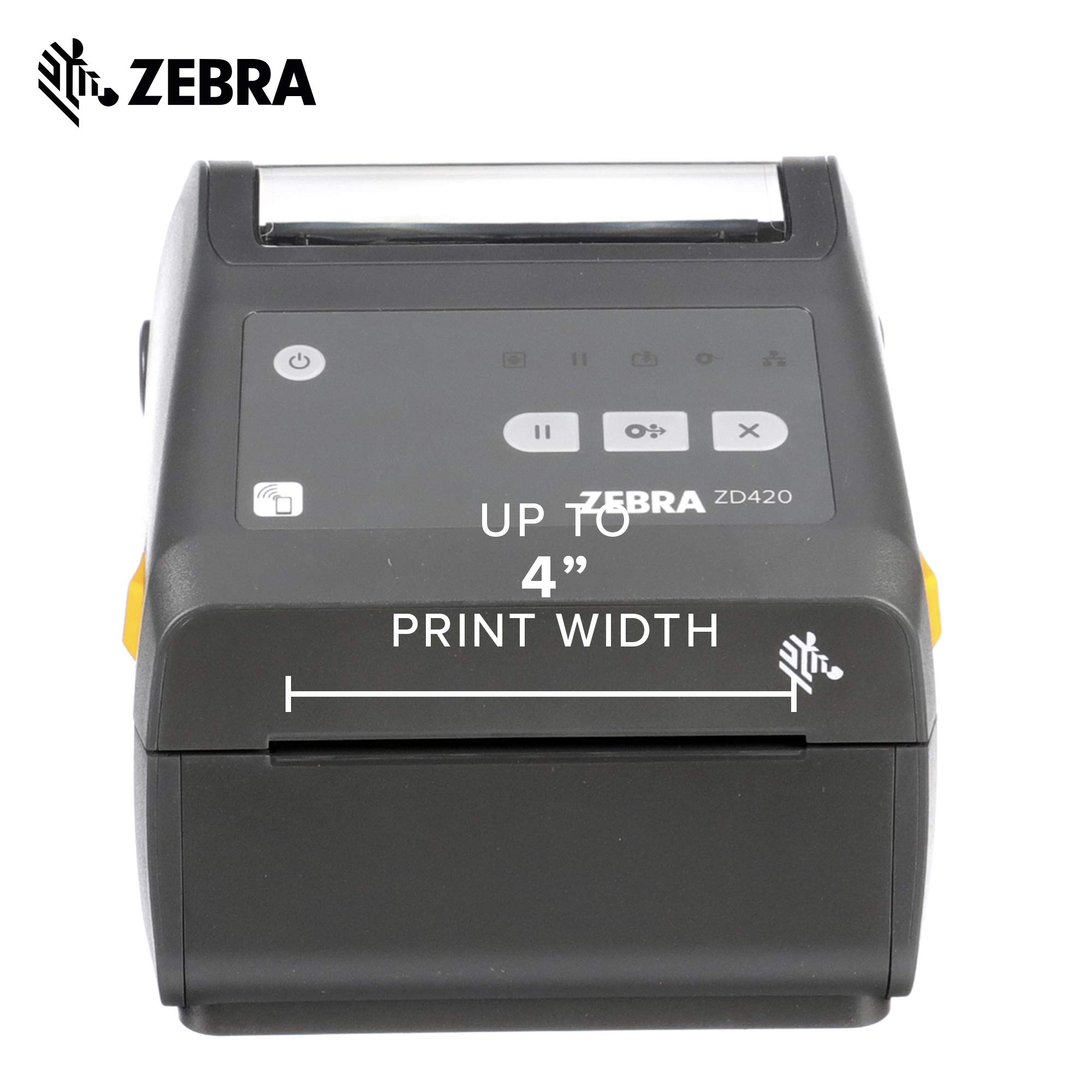 Zebra - ZD420d Direct Thermal Desktop Printer for Labels and Barcodes - Print Width 4 in - 300 dpi - Interface: WiFi, Bluetooth, USB - ZD42043-D01W01EZ by Zebra Technologies (Image #3)