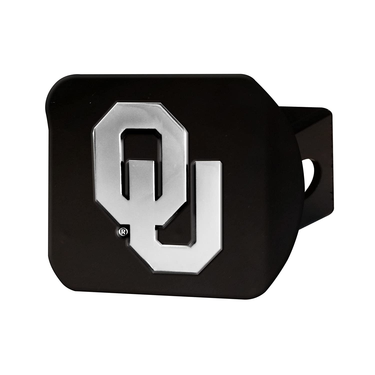 FANMATS 21044 Team Color 3.4x4 Oklahoma Black Hitch Cover