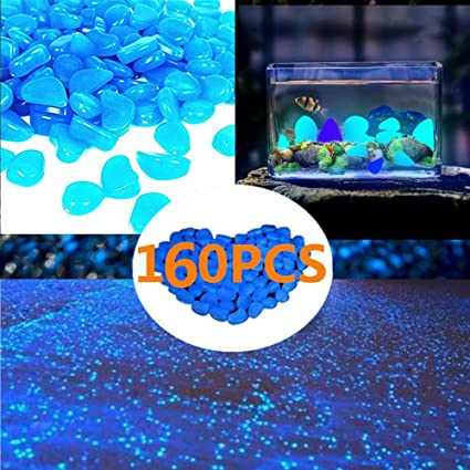 zwdd 160pcs glow in the dark garden pebblesglow stones rocks garden decorative stones glowing - Glow In The Dark Garden Pebbles