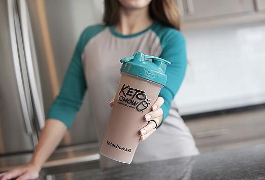 woman with a keto chow keto shake