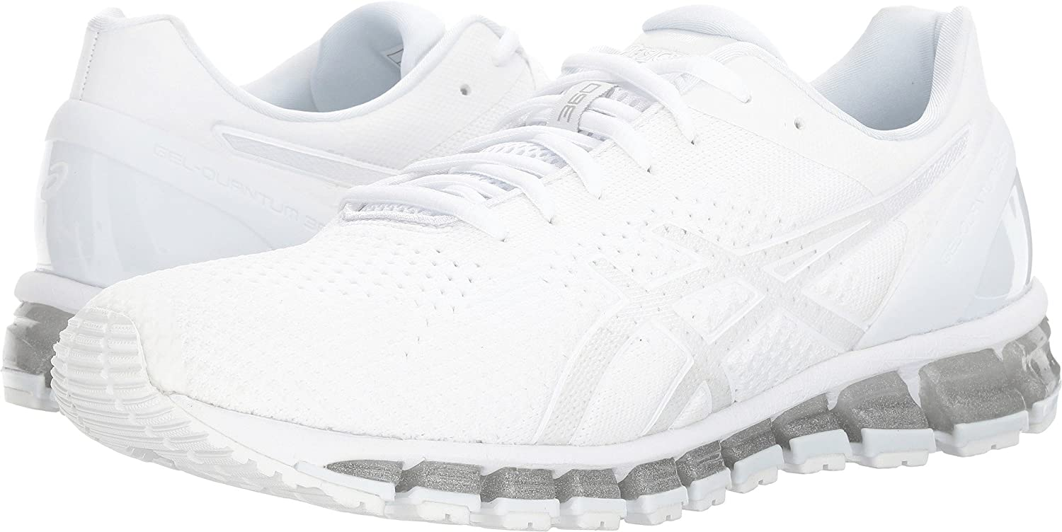 hot sales 35be4 dd6c7 ASICS Men's Gel-Quantum 360 Knit White/Snow/Silver Athletic Shoe