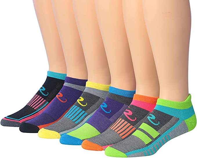 6 Pairs Lot Mens Casual Assorted Colors Ankle Low-Cut Cotton blend Socks