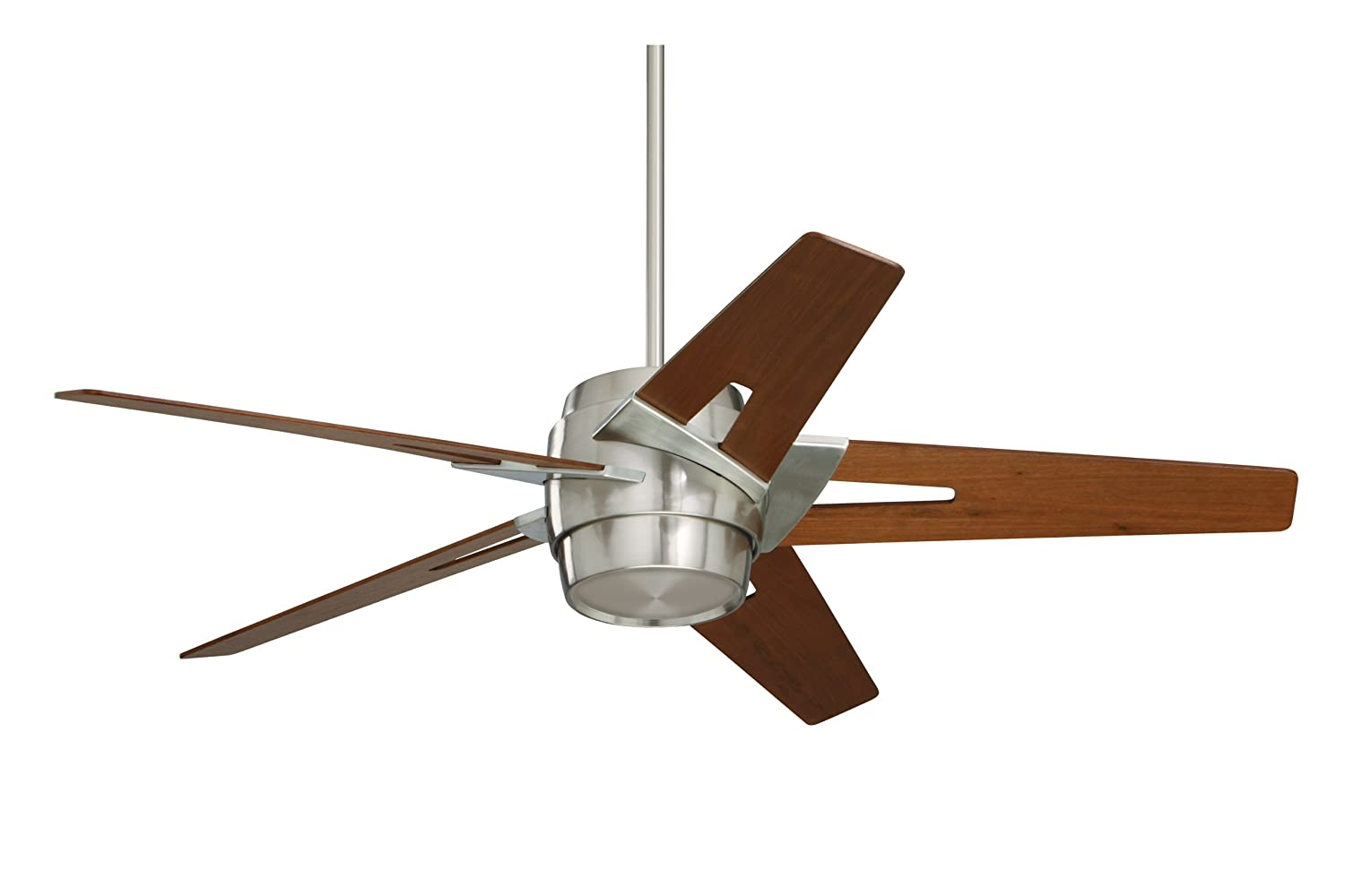 Unique Outdoor Ceiling Fans Part - 29: Emerson Ceiling Fans CF550WABS Luxe Eco Modern Ceiling Fan With Light And  Wall Control, 54-Inch Blades, Brushed Steel Finish - Close To Ceiling Light  ...