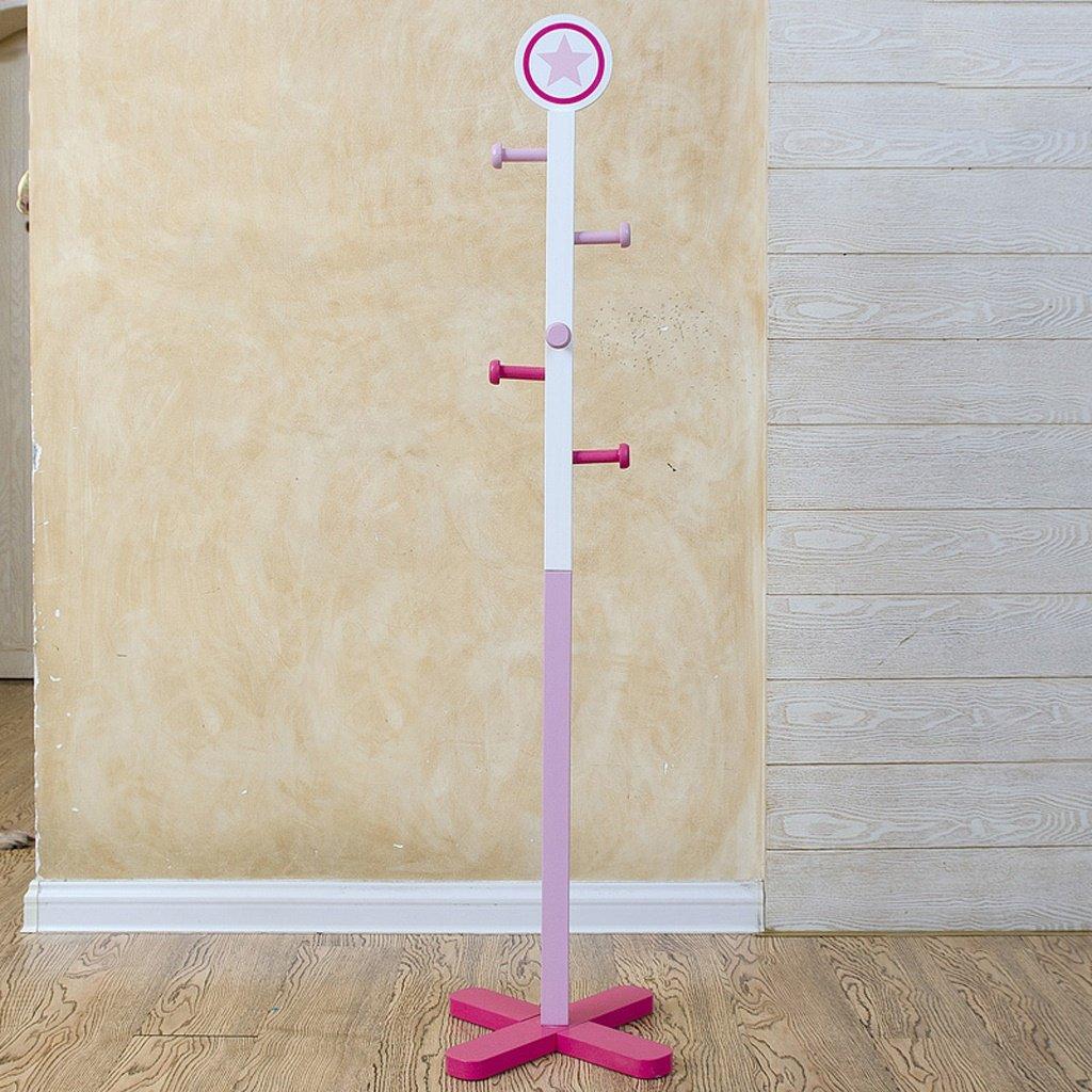 AIDELAI Coat Rack Children's Clothes Rack, Floor, Cartoon Bedroom, Living Room, Clothes Rack ( Color : Pink )