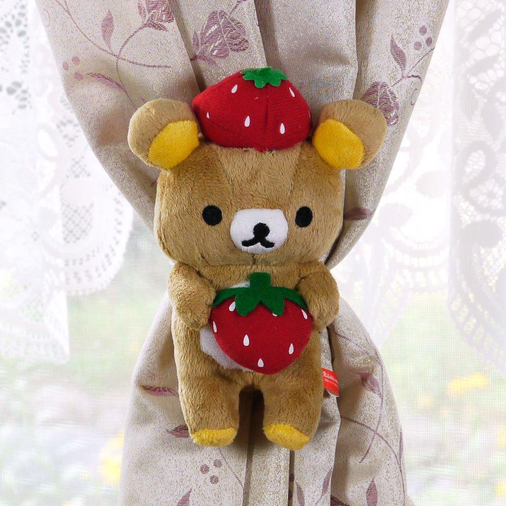 Rilakkuma Curtain Holder: Strawberry