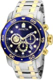 Invicta Men's Pro Diver Quartz Chronograph Watch with Stainless Steel Strap, Silver, 26 Model 0073)