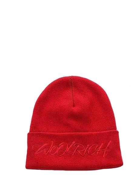 Woolrich Cappello Donna WWACC1393BC01565 Lana Rosso  Amazon.it ... 74fdac73ac5c