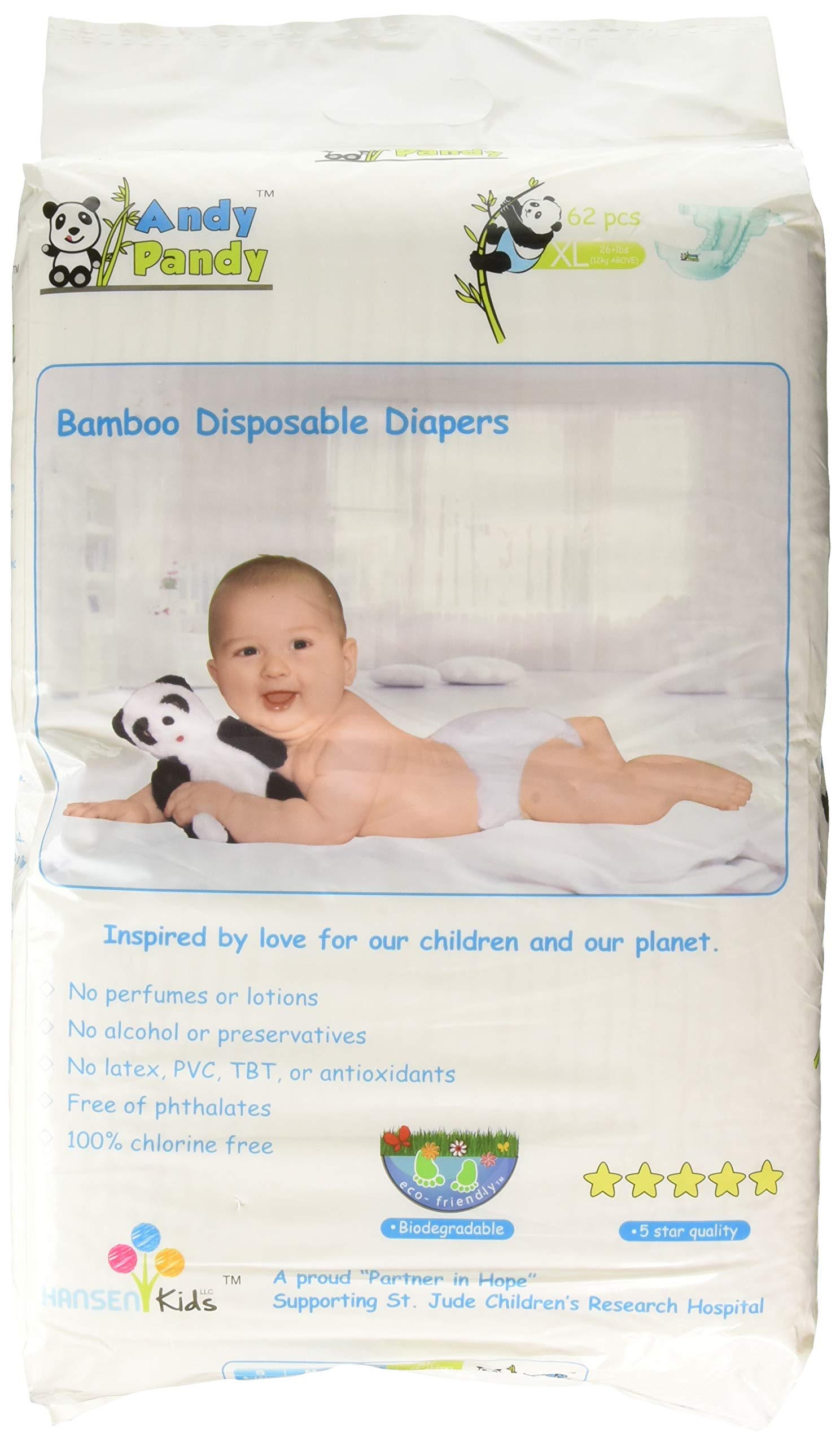 02dcd6dc0071 Amazon.com  Eco Friendly Premium Bamboo Disposable Diapers by Andy ...